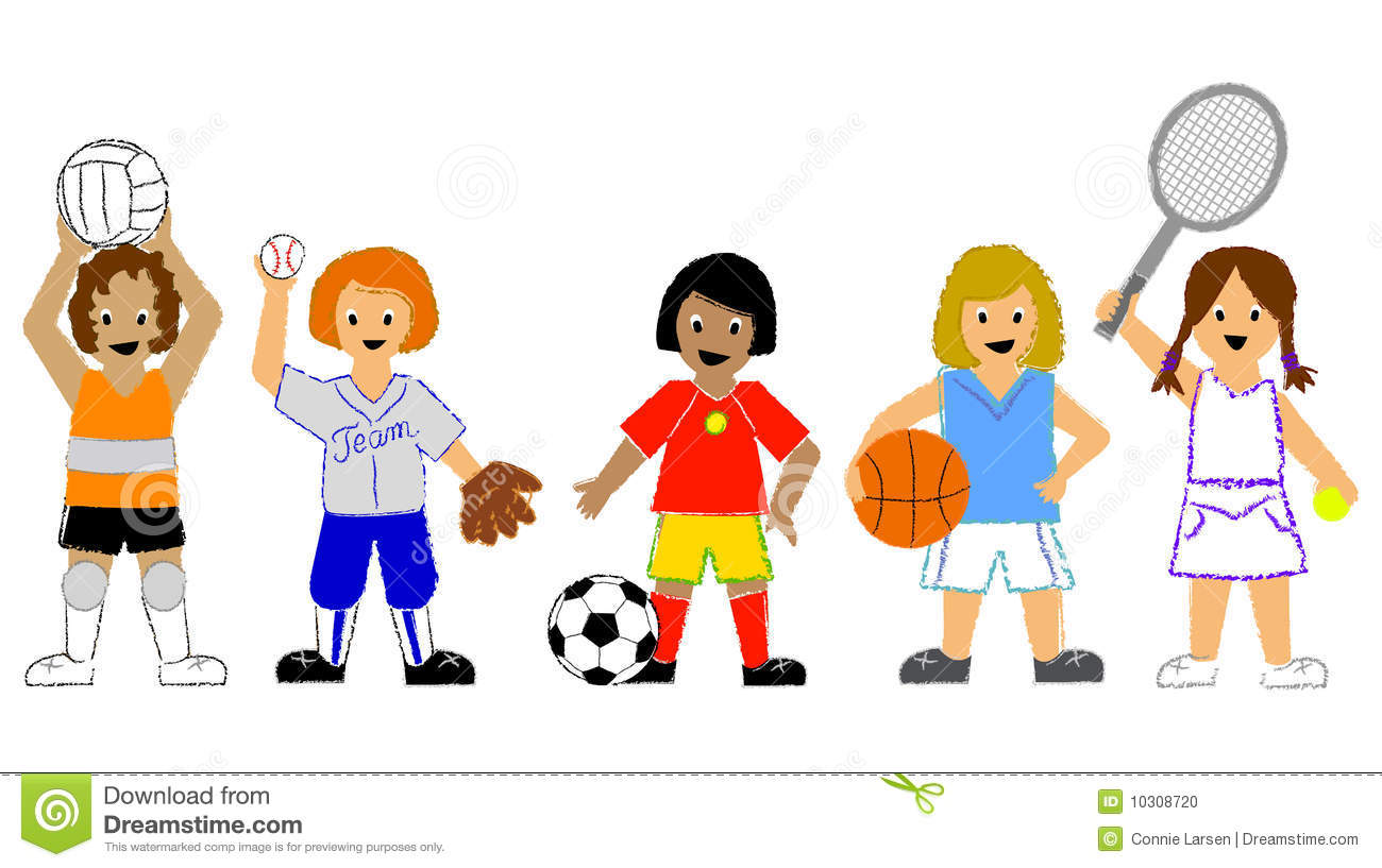 Children Playing Sports Clip Art 08